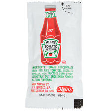 Heinz Ketchup 9 Gram Packets & French's Classic Yellow Mustard 7 Gram Packets