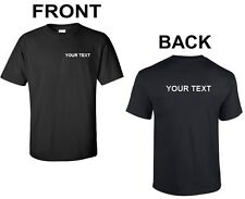 Custom Personalized T-Shirt Your Text Small Business Name Text Any Font Shirt