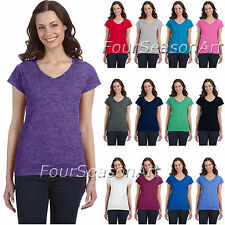 Gildan Womens SoftStyle Fitted V Neck T-Shirt Cotton Tee 64V00L-G64VL