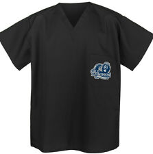 Old Dominion University SCRUBS COOL BLACK ODU Scrub Shirt Top GREAT FOR RELAXING