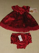 Sweet Heart Rose 2Pc Girls Outfit Red Polkadot Formal Dress 3-6/6-9/12M -NWT $58