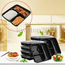 10Pcs Meal Bento Prep Lunch Food Plastic Storage Container Box+Lid Microwavable