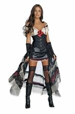ADULTS WOMENS MOVIES JONAH HEX  LILAH BLACK SEXY DRESS COSTUME - 4 SIZES