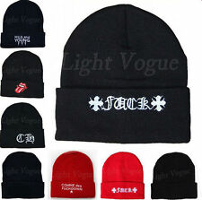 New Men Women Beanie Unisex Warm Winter Knit Fashion Hat Hip-hop Beanie Hats 48c