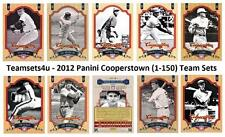 2012 Panini Cooperstown (1-150) Baseball Set ** Pick Your Team **