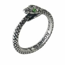 The Sophia Serpent Ring Green Eyed Snake of Infinity Alchemy Gothic Ouroboros