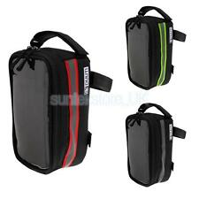 Bike Front Tube Phone Bag Waterproof Handlebar Bag Bicycle Front Pannier Bag
