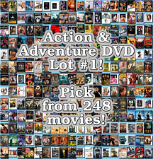 Action & Adventure DVD Lot #1: 248 Movies to Pick From! Buy Multiple And Save!