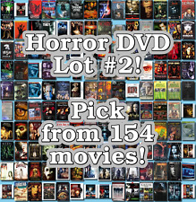 Horror DVD Lot #2: 154 Movies to Pick From! Buy Multiple And Save!