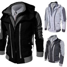 Men's Slim Collar Jackets Fashion Jacket Tops Casual Coat Hoodies Outerwear w98