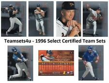 1996 Select Certified Baseball Set ** Pick Your Team **