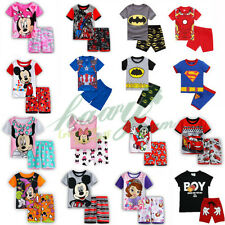 2-8Y Baby Kids Boys Girls Outfits Set Casual T-shirts Shorts Pants 2Pcs Pajamas