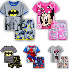 Children Kids Boys Girls Outfits Sets Casual Short Sleeve T-shirts Shorts Pants