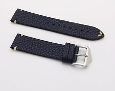 20 22 24 mm Blue Vintage Wrist Watch Leather Band Strap Belt Pin Steel Buckle