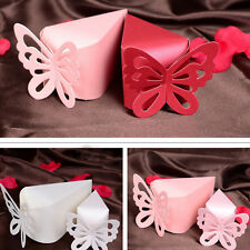 50Pcs Paper Butterfly Cut Candy Cake Boxes Wedding Party Gifts Favor Case New