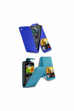 Leather Wallet Card Flip Case Cover For Blackberry Curve 8520 Free Protector