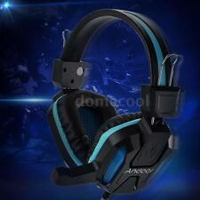Professional 3.5mm Over-Ear Stereo Gaming Headset LED Light Headphone w/Mic M0Y2