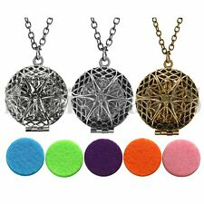 Vintage Locket Necklace Fragrance Essential Oil Aromatherapy Diffuser Pendant