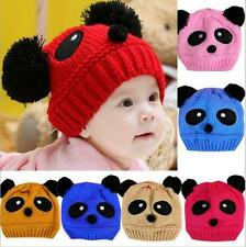 1 pcs knit Beanie Hat Crochet Cap Panda Wool Cute New Baby Love Hot Girls Boys