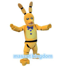 Halloween Party Fancy Dress Adult Outfit Yellow wolf Mascot Costume