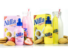 Nilla Wafers & Nilla Strawberry Juice 60ML-120ML By Tinted Brew Liquid Co