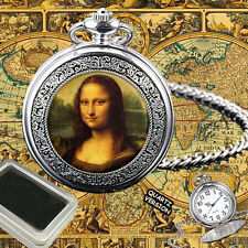 MONA LISA LA JOCONDE LA GIOCONDA  POCKET WATCH GIFT ENGRAVING