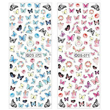 Butterfly Nail Art Wraps Water Transfers Stickers Decals Decoration Multi Color