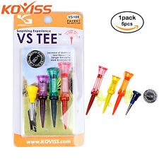 KOVISS Flexible Original Spring VS Golf Tees 5EA & Ball Marker Set VS108