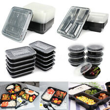20Pcs Microwave Safe Meal Prep Container Plastic Food Storage  Lunch BoxTakeaway