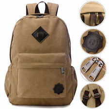 Bag Canvas Men's Vintage Backpack Laptop Shoulder Travel Camping School Bag NEW