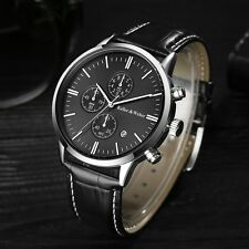 Fashion Mens Keller & Weber Date Aviator Quartz Leather Sport Wrist Watch Gifts