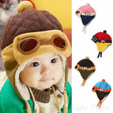 Cool Toddlers Baby Hat Beanie Boy Girl Kids Infant Winter Pilot Aviator Warm Cap