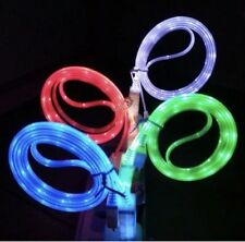 Visible LED Light Micro USB Charger Data Sync Cable HTC Samsung Galaxy S5 S4