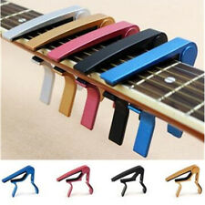 Clamp Electric Classic Guitar Silver Quick Change For Acoustic Clamp Key Capo