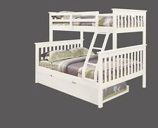 TWIN OVER FULL KID'S BUNK BED W/ TRUNDLE AND/OR TENT  - WHITE
