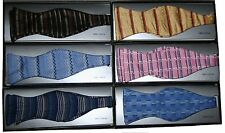 SELF BOW TIE WITH HANFKERCHIEF 100% WOVEN SILK IN GIFT BOX