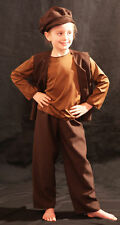 Victorian/Edwardian-Workhouse-Beggar BROWN URCHIN 3 outfit all Ages/Sizes