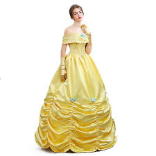 Adult Ladies Princess Belle Costume Beauty and The Beast Classic Cosplay Dress