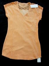 MARC CAIN Shirt orange with lace Size N3,N4,N6 / size 38,40,NEW