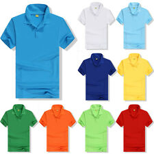 New Mens Polo Shirt Short Sleeve Slim Fit Designer Style Fit T Shirt Summer Tee