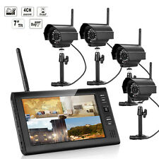 4CH HDMI Outdoor Video Wireless 1x2x4 CCTV DVR Cameras Home Security System Kit