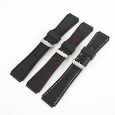 Men Silicone Waterproof Rubber Dive Watch Band Wrist Band Strap Belt 18mm-24mm