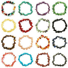 GEMSTONE Crystal Chip Beaded Stretch Charm Reiki Healing BRACELETS Jewelry