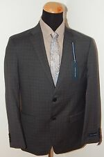 Tommy Hilfiger Mens Suit 100% Wool Gray Tonal Windowpane 36S 40R 42L 48L