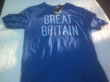 NWT Under Armour Charged Cotton, GBR, Great Britain, men's M, blue