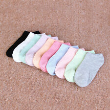 10 Pairs Girl Low Cut Cotton Blend Socks Fashion C16V9 Summer Boat Ankle Socks