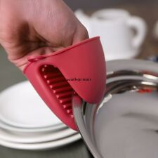 2 Silicone Mini Pinch Oven Mitts Pot Holders Kitchen Gloves Heat Resistant WN