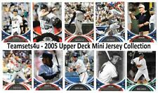 2005 Upper Deck Mini Jersey Collection Baseball Sets ** Pick Your Team **