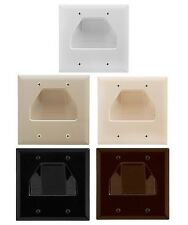 Wall Plate Plastic Hide Wire 2 Gang Recessed Cable Low Voltage Wall Plates