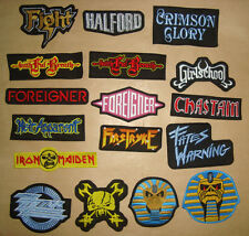 IRON MAIDEN HALFORD FIGHT HEIR APPARENT FOREIGNER GIRLSCHOOL Embroidered PATCH